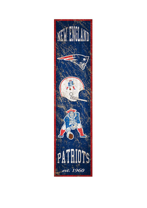 NFL New England Patriots 6 in x 24 in Vertical Heritage Banner