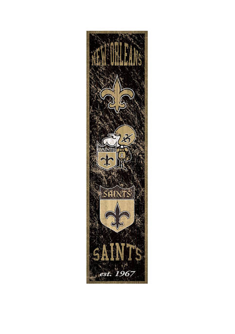 NFL New Orleans Saints 6 in x 24 in Vertical Heritage Banner