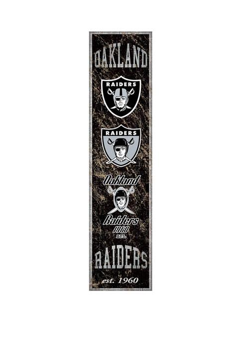 NFL Oakland Raiders 6 in x 24 in Vertical Heritage Banner