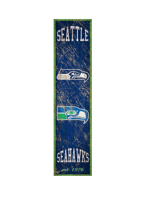 NFL Seattle Seahawks 6 in x 24 in Vertical Heritage Banner