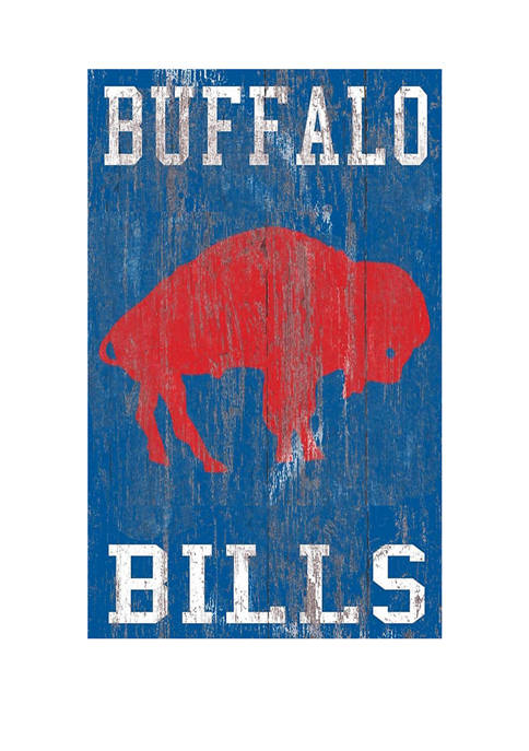 NFL Buffalo Bills 11 in x 19 in Heritage Distressed Logo Sign