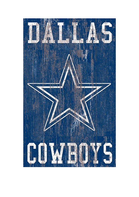 NFL Dallas Cowboys 11 in x 19 in Heritage Distressed Logo Sign