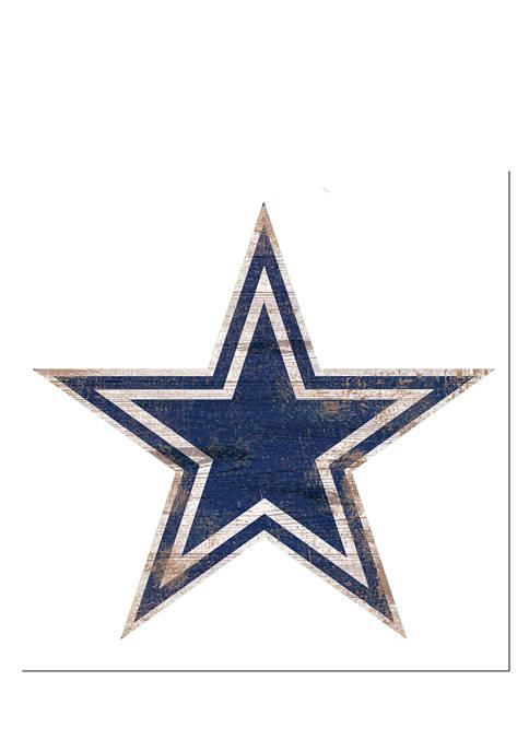 Fan Creations NFL Dallas Cowboys Distressed Logo Cutout