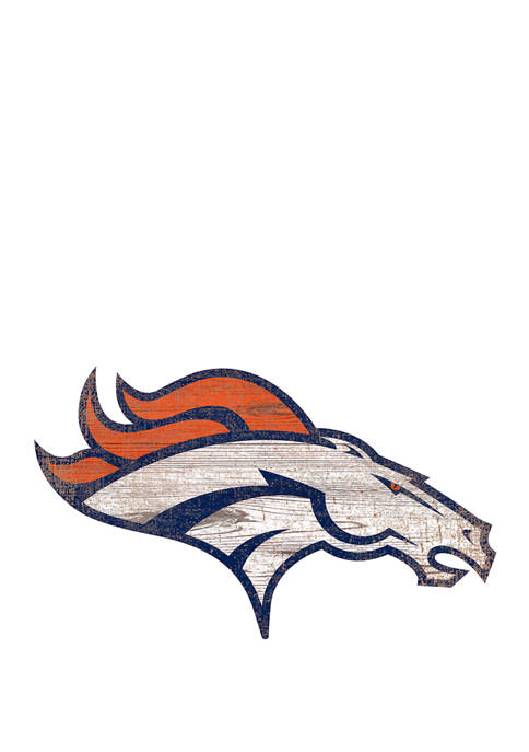 Fan Creations NFL Denver Broncos Distressed Logo Cutout