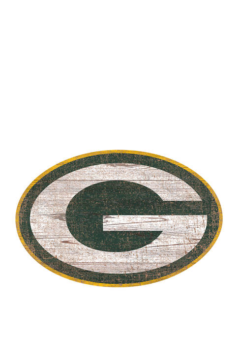 NFL Green Bay Packers Distressed Logo Cutout Sign