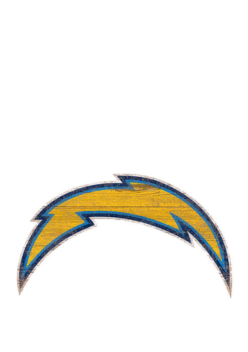 NFL Los Angeles Chargers Distressed Logo Cutout Sign