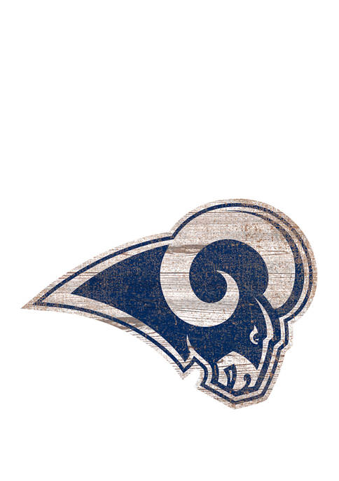 NFL Los Angeles Rams 24 in x 24 in Distressed Logo Cutout Sign