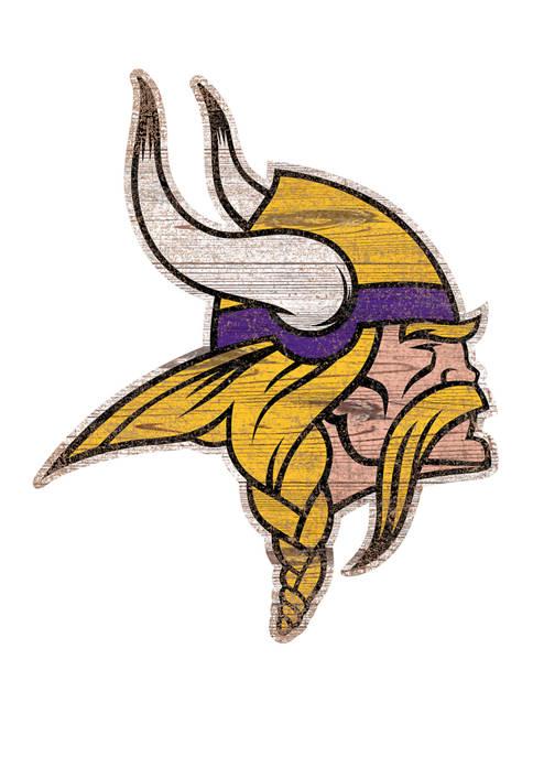 NFL Minnesota Vikings Distressed Logo Cutout Sign
