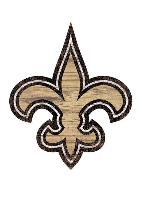 NFL New Orleans Saints 24 in x 24 in Distressed Logo Cutout Sign