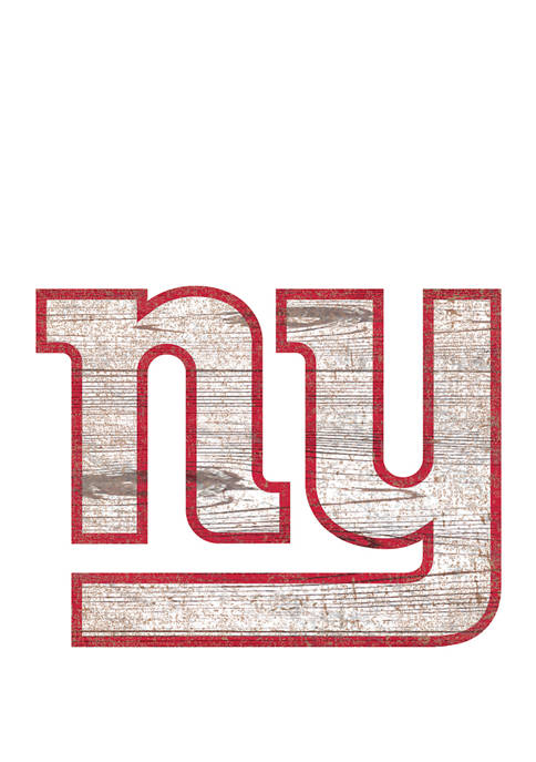 NFL New York Giants Distressed Logo Cutout Sign