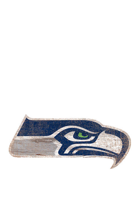 NFL Seattle Seahawks Distressed Logo Cutout Sign