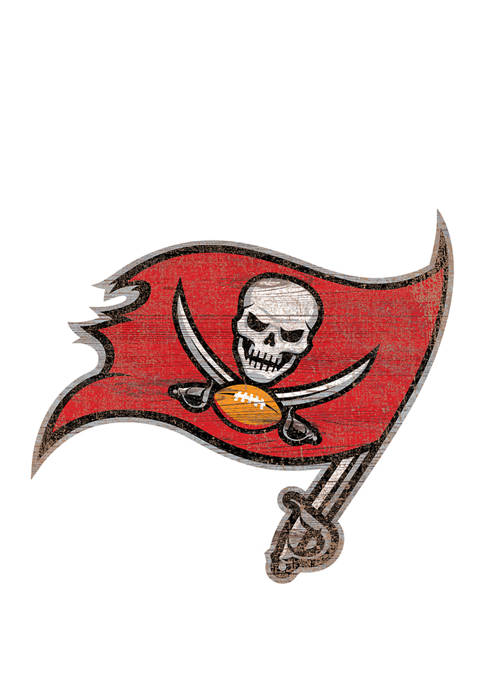NFL Tampa Bay Buccaneers Distressed Logo Cutout Sign