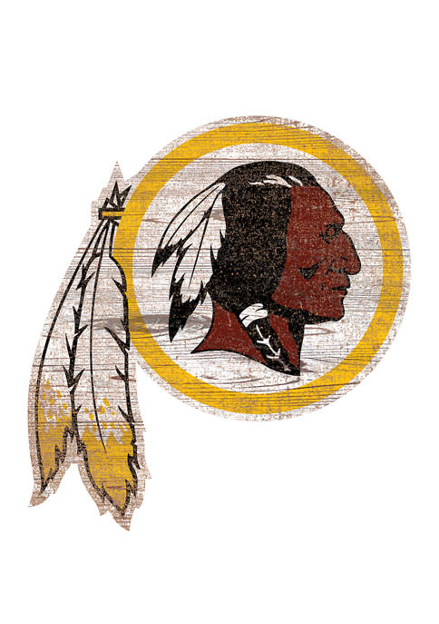 NFL Washington Redskins Distressed Logo Cutout Sign