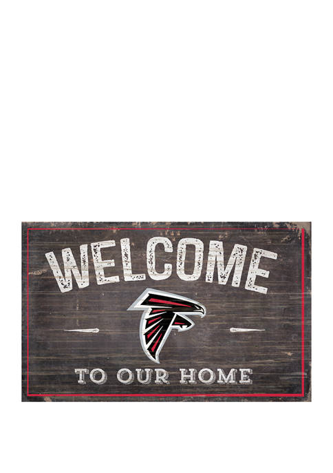 NFL Atlanta Falcons 11 in x 19 in Welcome to Our Home Sign