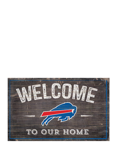 NFL Buffalo Bills 11 in x 19 in Welcome to Our Home Sign