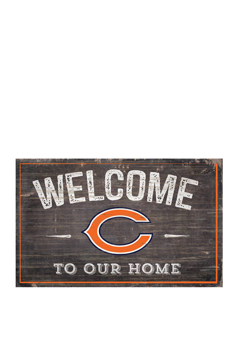 NFL Chicago Bears 11 in x 19 in Welcome to Our Home Sign