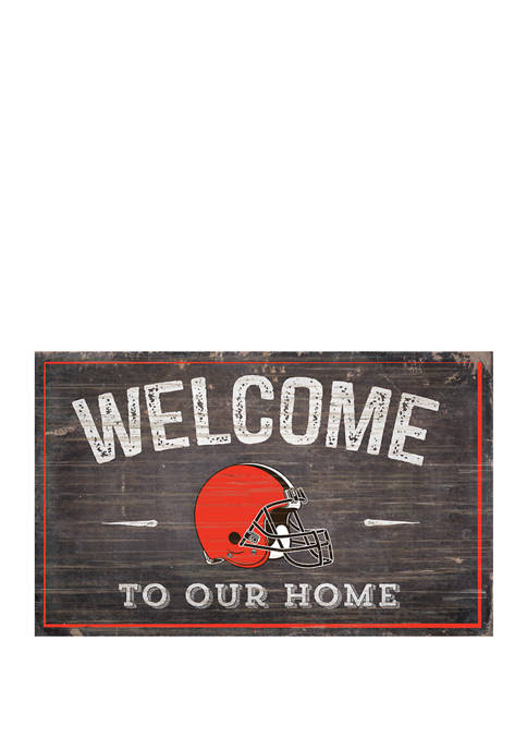 NFL Cleveland Browns 11 in x 19 in Welcome to Our Home Sign