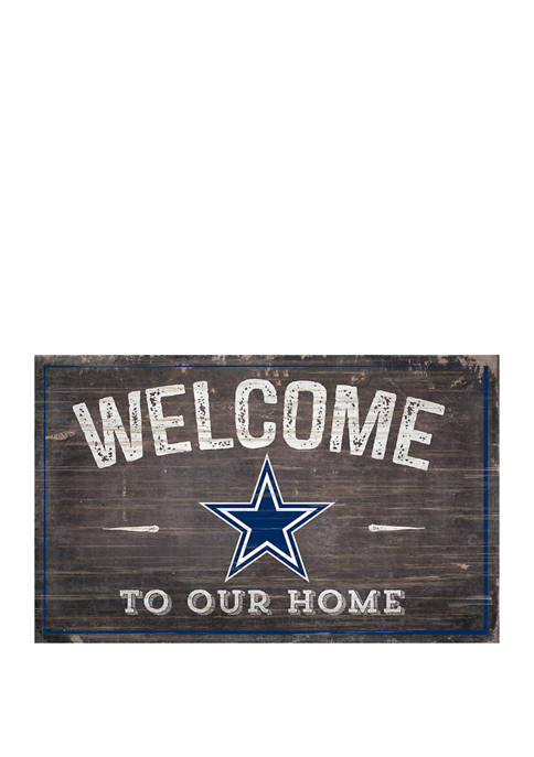 NFL Dallas Cowboys 11 in x 19 in Welcome to Our Home Sign