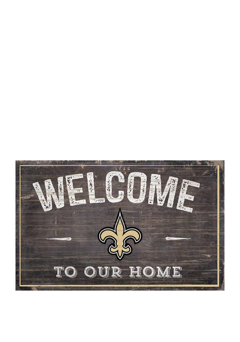 NFL New Orleans Saints 11 in x 19 in Welcome to Our Home Sign