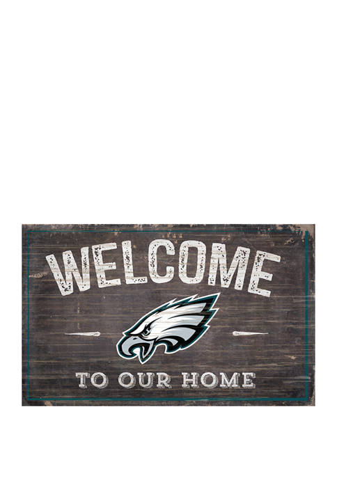 NFL Philadelphia Eagles 11 in x 19 in Welcome to Our Home Sign