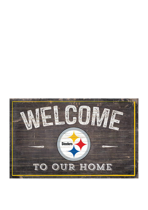 NFL Pittsburgh Steelers 11 in x 19 in Welcome to Our Home Sign