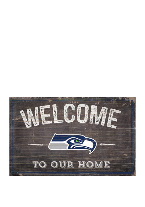 NFL Seattle Seahawks 11 in x 19 in Welcome to Our Home Sign