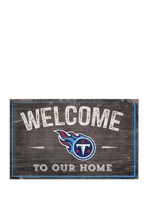 NFL Tennessee Titans 11 in x 19 in Welcome to Our Home Sign