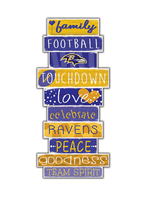 NFL Baltimore Ravens Celebrations Stack 24 in x 10 in Sign