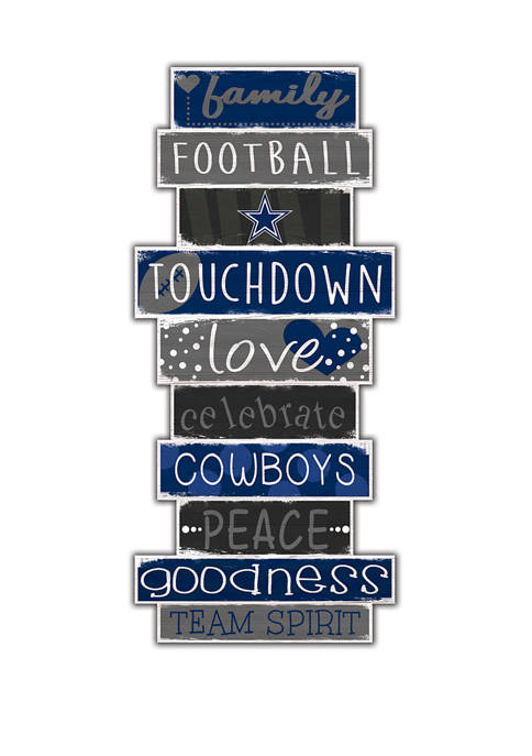 NFL Dallas Cowboys Celebrations Stack 24 Inch Sign