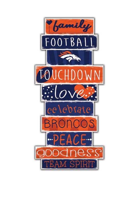 Fan Creations NFL Denver Broncos Celebrations Stack 24