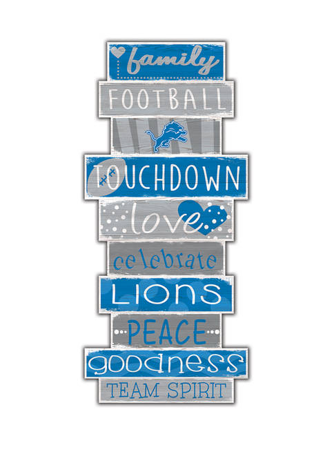 NFL Detroit Lions Celebrations Stack 24 Inch Sign