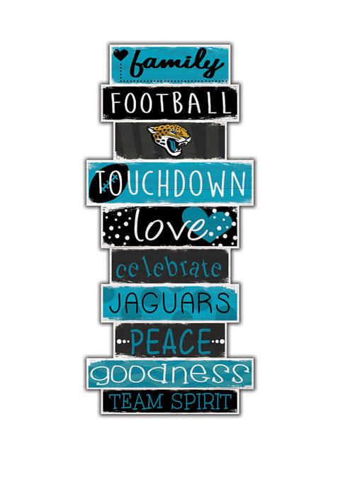 NFL Jacksonville Jaguars Celebrations Stack 24 Inch Sign