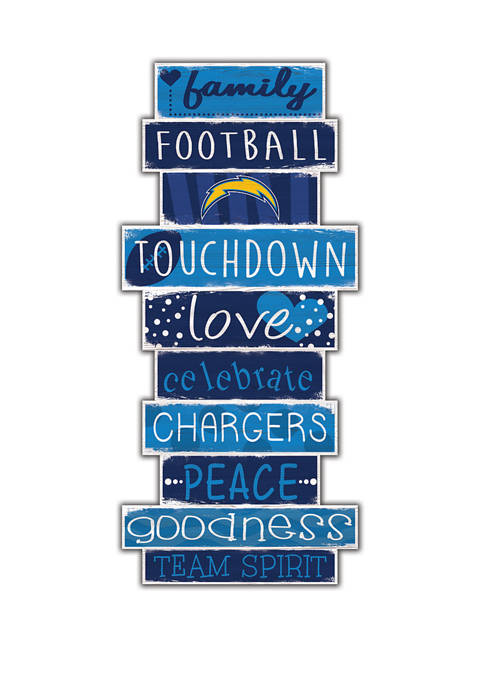 NFL Los Angeles Chargers Celebrations Stack 24 Inch Sign