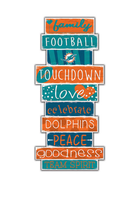 Fan Creations NFL Miami Dolphins Celebrations Stack 24""