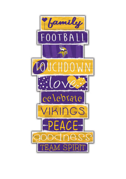 "Fan Creations NFL Minnesota Vikings Celebrations Stack 24"""