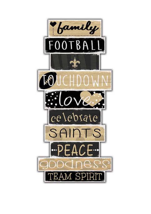 NFL New Orleans Saints Celebrations Stack 24 Inch Sign