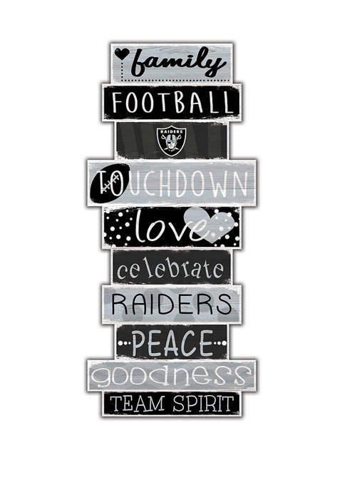 NFL Oakland Raiders Celebrations Stack 24 Inch Sign