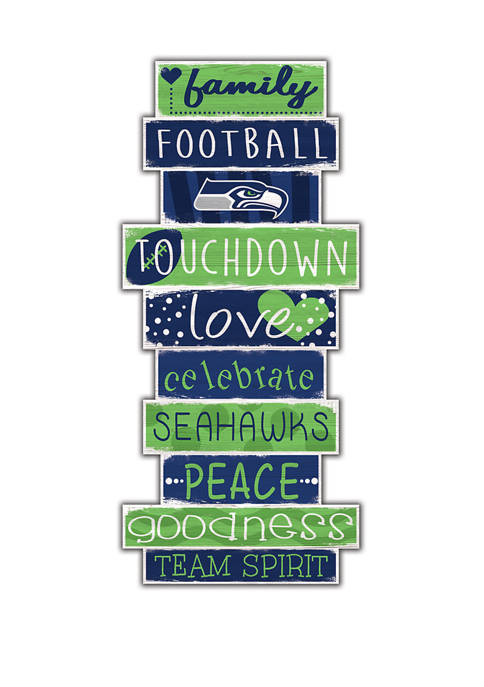 NFL Seattle Seahawks Celebrations Stack 24 Inch Sign