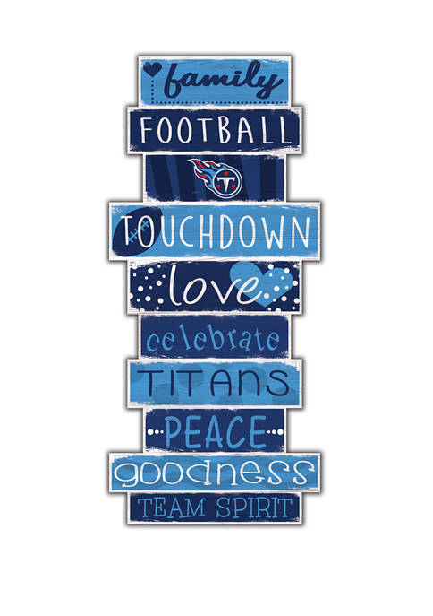 NFL Tennessee Titans 24 Inch Celebration Stack Sign