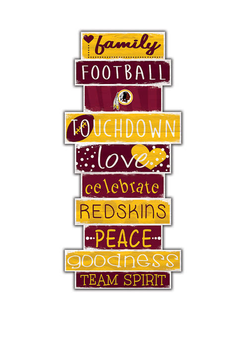 NFL Washington Redskins 24 Inch Celebration Stack Sign