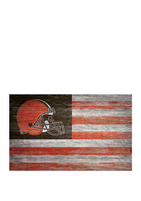NFL Cleveland Browns 11 in x 19 in Distressed Flag