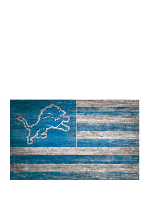NFL Detroit Lions 11 in x 19 in Distressed Flag