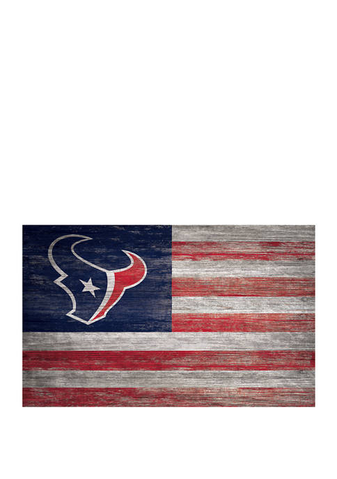 NFL Houston Texans 11 in x 19 in Distressed Flag