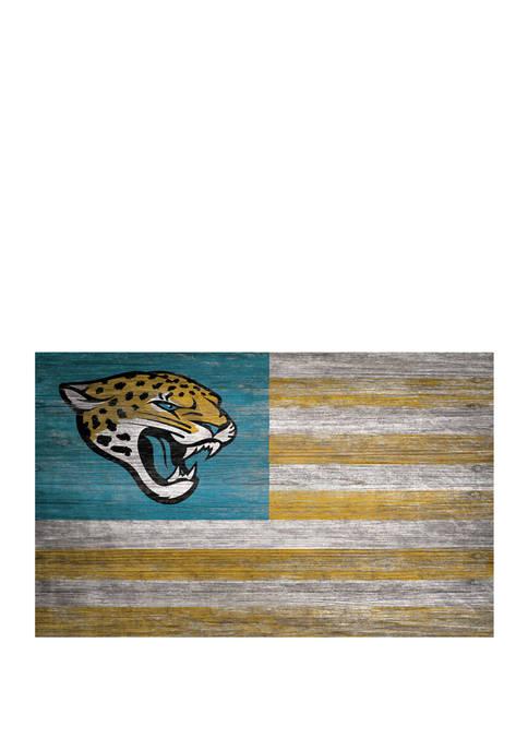 NFL Jacksonville Jaguars 11 in x 19 in Distressed Flag