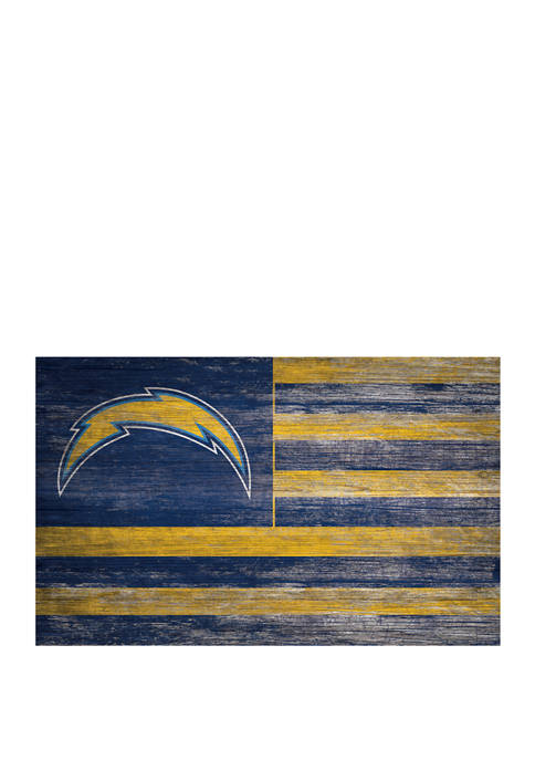 NFL Los Angeles Chargers 11 in x 19 in Distressed Flag