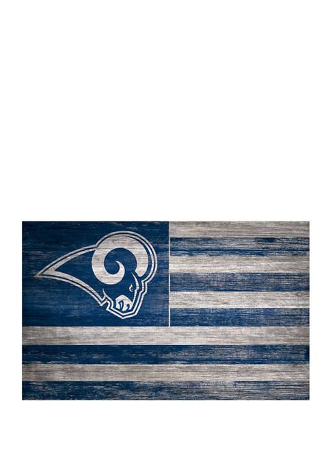 NFL Los Angeles Rams 11 in x 19 in Distressed Flag