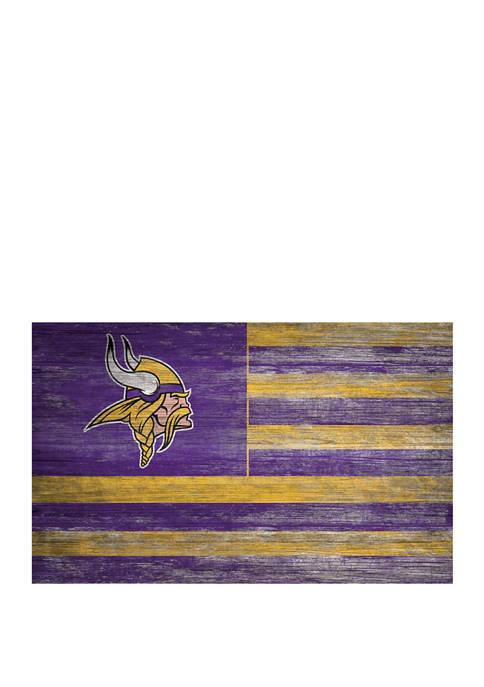 NFL Minnesota Vikings 11 in x 19 in Distressed Flag