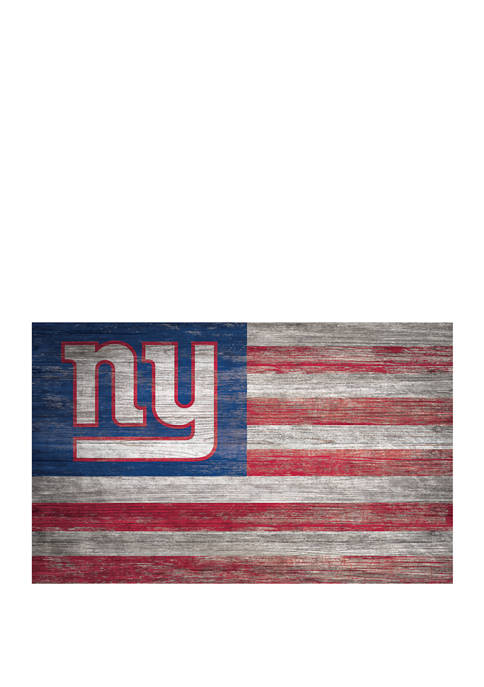 NFL New York Giants 11 in x 19 in Distressed Flag