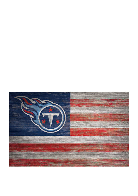 NFL Tennessee Titans 11 in x 19 in Distressed Flag