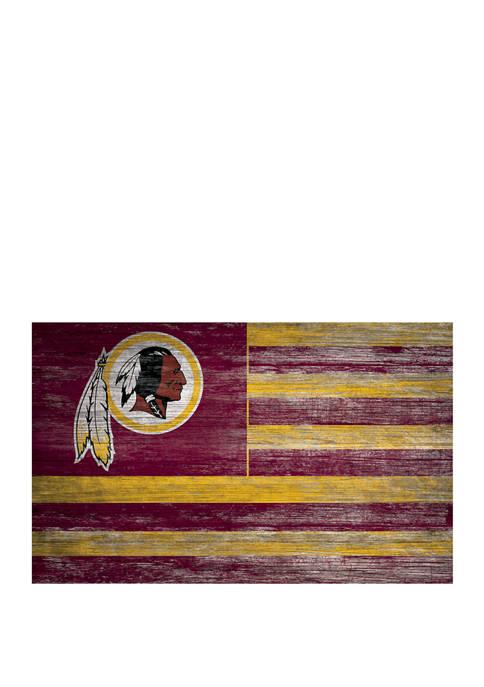 NFL Washington Redskins 11 in x 19 in Distressed Flag